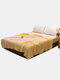1 Pc 2 Colors Winter Double Thick Warmth Coral Fleece Blanket Office Nap Magic Fleece Blanket - Yellow