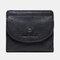 女性8カードスロット本革小銭入れ財布 - ブラック