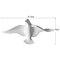 Europeo 3D estéreo pared resina pájaro pared fondo ornamento hogar artesanía decoración - #4