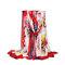 Donna Colorful Stampa Bohemia Travel Beach Protezione solare Ethnic Vintage Vogue Soft Scialle di seta