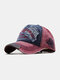 Men Embroidery Tiger And Letter Pattern Baseball Cap Outdoor Sunshade Adjustable Hat - Wine Red