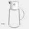 زجاجة تخزين زجاجية للتوابل للمطبخ ومضادة للرطوبة ومضادة للأتربة بسعة كبيرة زجاجة خل زيت الصوص - أبيض