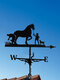 Garden Farm Iron Rooster Dragon Dog Horse Home Weathercock Weather Vane Wind Direction Indicator Yard Measuring Tools - #03