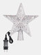 Christmas Tree Topper Star Lights 3D Top Light Projection Lamp Christmas Party Decoration Home Rotation Projector - #02