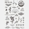 Halloween Face Temporary Tattoo Stickers Waterproof Sweatproof Breathable Art Body Fake Tattoo Transfer Paper - 14