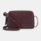 Women Multifunction 6 Card Slots Phone Bag Crossbody Bag Shoulder Bag - Red