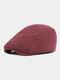 पुरुषों और महिलाओं के ठोस रंग आकस्मिक आउटडोर आगे टोपी फ्लैट टोपी टोपी टोपी - लाल शराब
