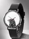 Animal Printed Men Business Watch Black-White Dogs Cats Pattern Women Quartz Watch - #03