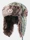 メンズカモ防寒冬用トラッパーハット厚手の冬用ハット耳保護トラッパーハット - #01