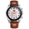 Business Style Men Wrist Watch Decorate Three Dials Leather Strap Quartz Watches - 01