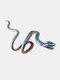 Alloy Vintage Snake-shape Animal Ear Clip Earrings - Rainbow