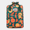 Women Waterproof Large Capacity Print Casual Backpack Drawstring pocket - #02