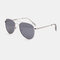 Unisex Casula Fashion Full Metal Frame Narrow Rim Elegant UV Protection Sunglasses - Silver