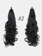 6 Colors Catch Clip Long Curly Hair Fluffy Messy High Ponytail Wig Piece - #01