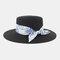 Women Travel Vacation Beach Hat Jazz Straw Hat Sun Protection Sun Hat - Black