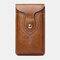 Men 6.3 Inch EDC Retro Short Cell Phone Case Belt Bag - Brown 1