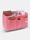 Women Multifunction Felt Cosmetic Bag Insert Organizer - Pink