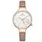 Waterproof Elegant Women Wrist Watch Genuine Leather Strap Quartz Watch - Brown