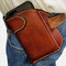 Men Genuine Leather 6.3 Inch EDC Cell Phone Holster - Brown
