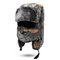 Mens Camouflage Winter Warm Lei Feng Hat Cotton Fleece Thick Windproof Cycling Skiing Face Mask Cap - Grey