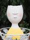 1PC Art Portrait Flower Pot Vase Sculpture Resin Human Face Family Flower Pot Handmade Garden Storage Flower Arrangement Home Decors - Man-1