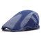 Gorro de boina de tela de mezclilla lavada casual Vogue vendimia para hombre, ajustable al aire libre, Sun Sombrero