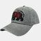 Embroidery Baseball Cap Cartoon Cute Bear Cap Sun Hat - Gray