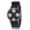 Fashion Cute Women Watches Leather Band Three-Dimensional Little Daisy Quartz Watch - 03
