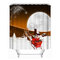 180x180cm Christmas Waterproof Shower Curtain House Decoration Curtain With 12 Hooks - #3