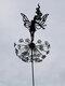 1PCフラワーフェアリーエルフいたずらスピリッツダンスパーフェクトワンダーランドシルエットメタル芝生風景彫刻庭の装飾 - #03