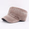 Mens Vintage Washed Cotton Flat Hats Military Caps Baseball Caps Adjustable - Coffee