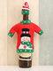 1 قطعة غطاء زجاجة نبيذ الكريسماس عيد الميلاد والتطريز كاريكاتير زينة مائدة الكريسماس - #02