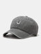 Unisex Cotton Made-old Smiling Face Young Outdoor Sunshade Baseball Hat - Gray