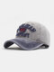 Men Washed Cotton Letter Pattern Patch Baseball Cap Outdoor Sunshade Adjustable Hats - #02