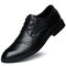 Hombres de gran tamaño Cap Toe Lace Up Business Casual Zapatos de vestir formales