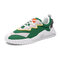 Men Sport Colorblock Mesh Fabric Breathable Casual Running Sneakers - Green