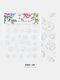 5D Colorful Flowers Embossed Decals Series Nail Stickers - #19