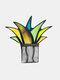 アクリルサンキャッチャーステンドアガベアロエ鉢植え植物フラワーポットガーデンホームオーナメント - #04
