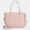 QUEENIE Casual Shopping Multifunction Handbag Ripple Shoulder Bag - Pink