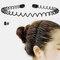 スポーツスタイル男性女性ヘッドバンドヘアピンフェイスウォッシュバックプレッシャーヘアノンハートヘアヘアアクセサリー - 8