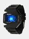 Multi-Function LED Display Men Watch Luminous Waterproof Electronic Watch - Black