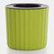 自動吸水クリエイティブ多肉植物水耕鉢植えラウンドプラスチックプラスチックフラワーポット - 緑