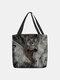 Frauen fühlten sich schöne Katzen Handtasche Tote - Schwarz