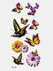 40 piezas 3D estéreo Impermeable tatuajes pegatinas escorpión flor transferencia de agua tatuaje pegatinas - 36