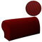 2PCS Premium Furniture Armrest Cover Sofa Couch Chair Arm Protectors Stretchy - Wine Red