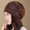 Women Flexible Polyester Beanie Vogue Vintage Outdoor Home Casual Hat