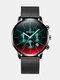 Luxury 30 Meters Waterproof Clock Male Casual Mesh Belt Quartz Watch - Black Shell Black Band