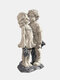 1 PC Resin Garden Statue Decoration Boy And Girl Kissing Memories Ornaments Warmth Memories Lovely Sculptures Decoration For Garden Yard - #01