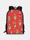 Women Christmas Green Hair Monster Grinch Print Backpack - #08