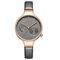 Waterproof Elegant Women Wrist Watch Genuine Leather Strap Quartz Watch - Grey